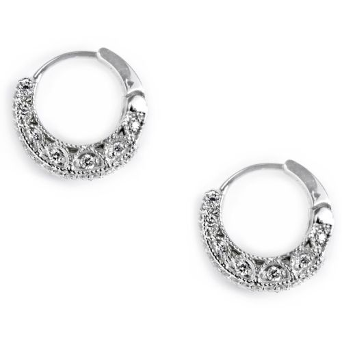Tacori Diamond Earrings 18 Karat Fine Jewelry FE602