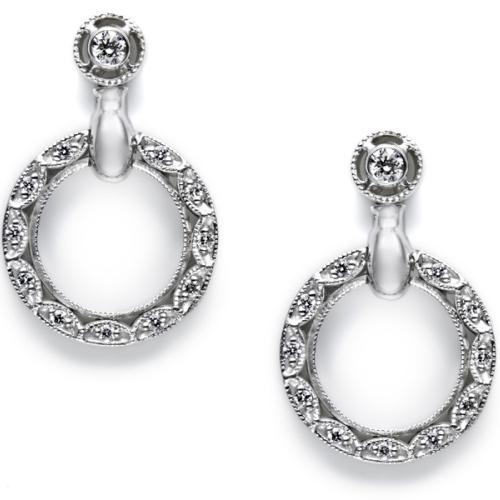 Tacori Diamond Earrings Platinum Fine Jewelry FE557