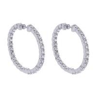 Gabriel Fashion 14 Karat Hoops Hoop Earrings EG10270W45JJ ...