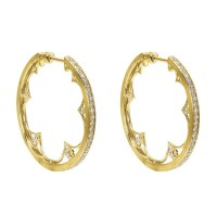 Gabriel Fashion 14 Karat Hoops Hoop Earrings EG12050Y45JJ ...