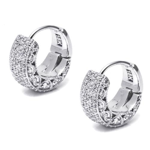Tacori Diamond Earrings Platinum Fine Jewelry FE640