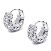 Tacori Diamond Earrings Platinum Fine Jewelry FE640