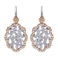 Gabriel Fashion 14 Karat Two-Tone Lusso Diamond Drop ...