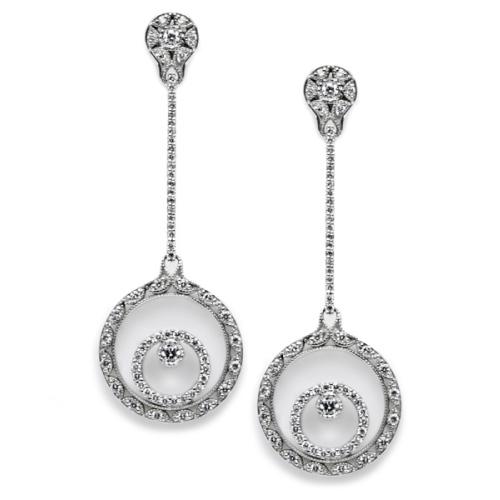 Tacori Diamond Earrings 18 Karat Fine Jewelry FE588