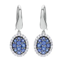 Gabriel Fashion Silver Pave Drop Earrings EG11802SVJMC ...