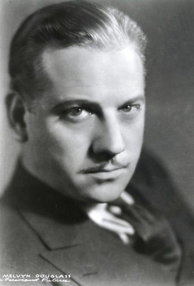 Melvyn Douglas in his leading man days.