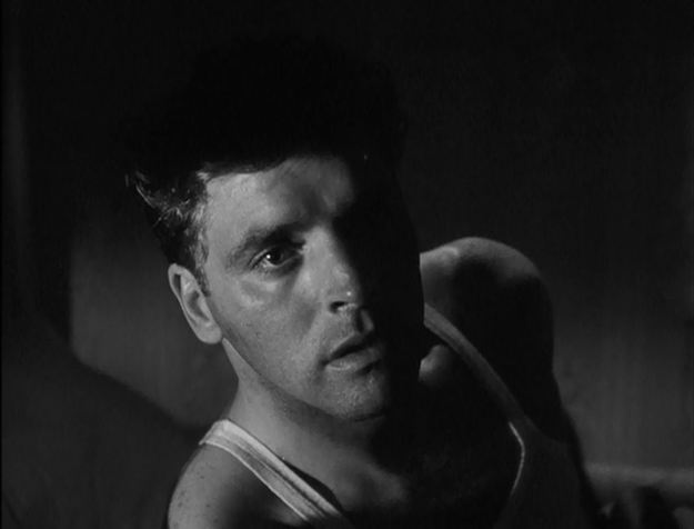 Burt Lancaster in his debut role. This is our first good look at him. Is it any wonder he became a star?