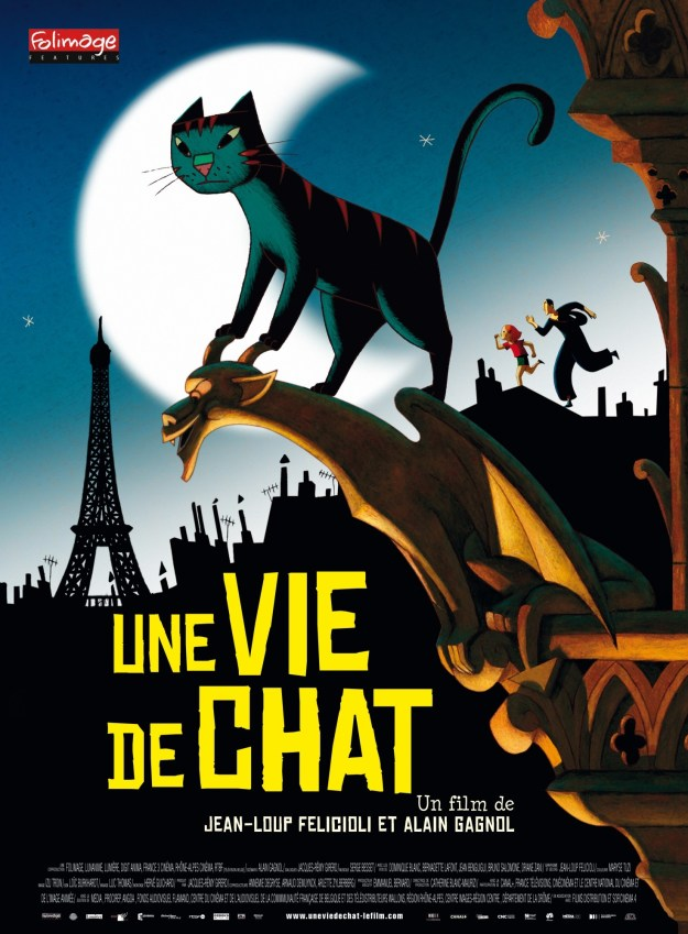 'A Cat in Paris': Original French poster.