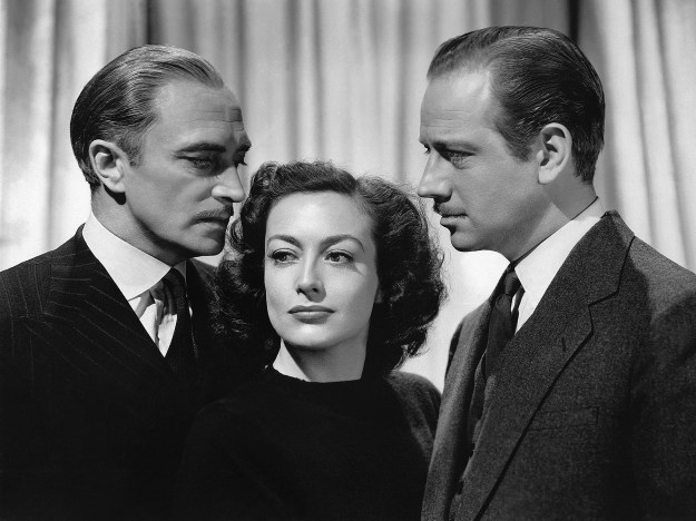 Conrad Veidt, Joan Crawford, Melvyn Douglas: Crawfor's torn between Satan and the sawbones.