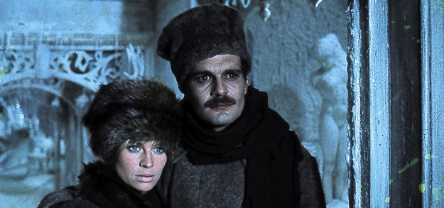 Julie Christie, Omar Sharif: Time and again in Russia the mother/Yuri and Lara bump into each other.