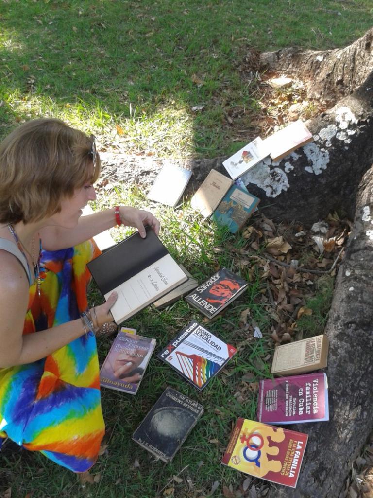 Suelta Masiva de Libros, 26 de abril de 2015, Parque de H y 21, La Habana. Foto: Rafael González Escalona