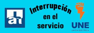 Interrupciones en los servicios