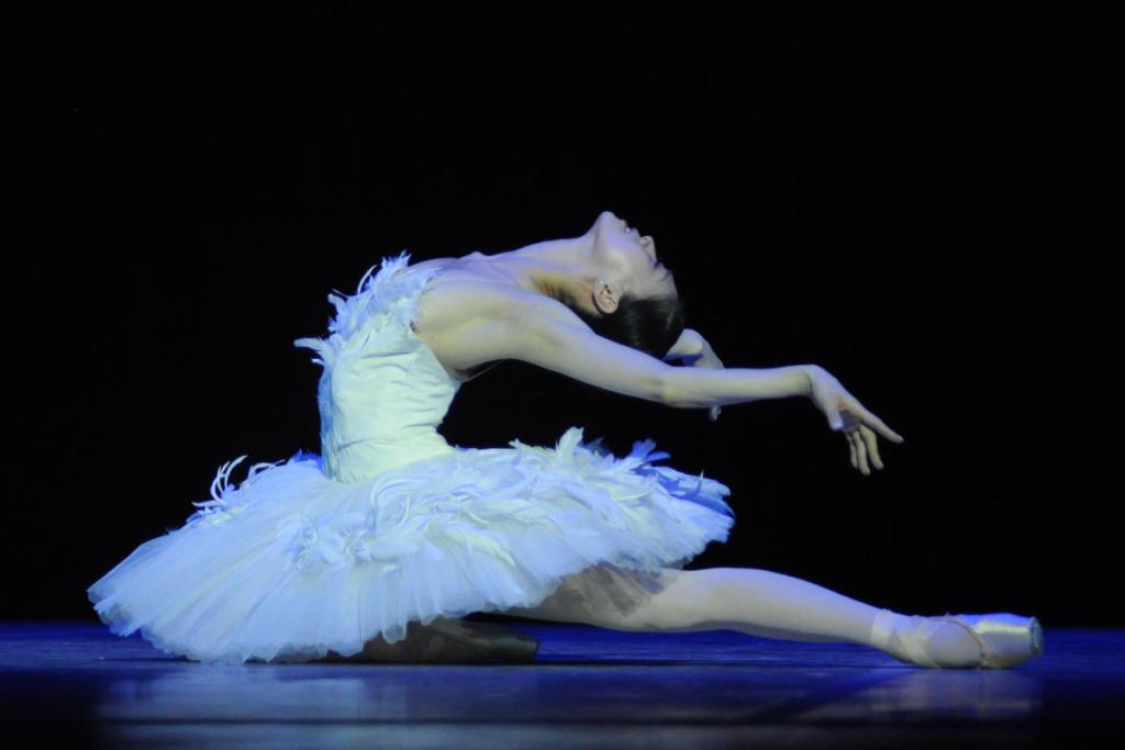 Sin perder distinción, Misa Kuranaga ofreció una singular interpretación de La muerte del cisne. La intensidad y el dramatismo de algunos movimientos trascendieron el acostumbrado lirismo de la pieza. Muy atendible. Foto: Yuris Nórido
