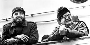 Fidel junto a Salvador Allende