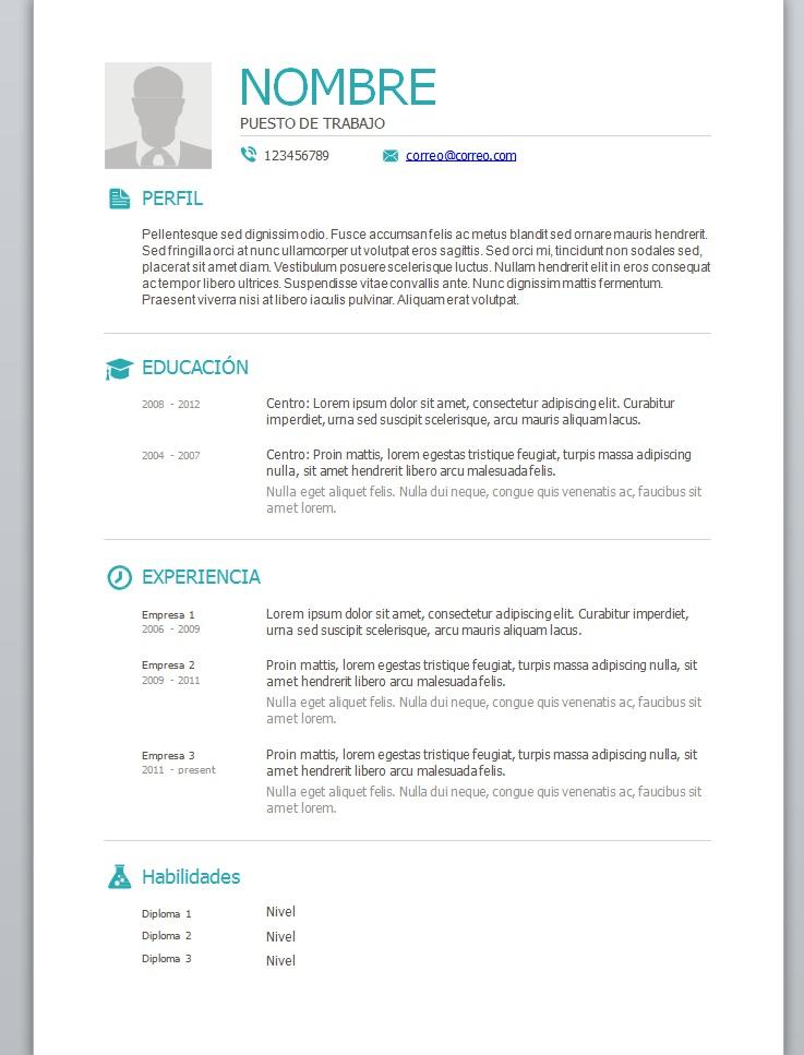 Tag Formatos De Curriculum Vitae Chile Word