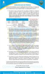 Toque de Queda Absoluto se extiende hasta el 12 de abril, comunicado oficial