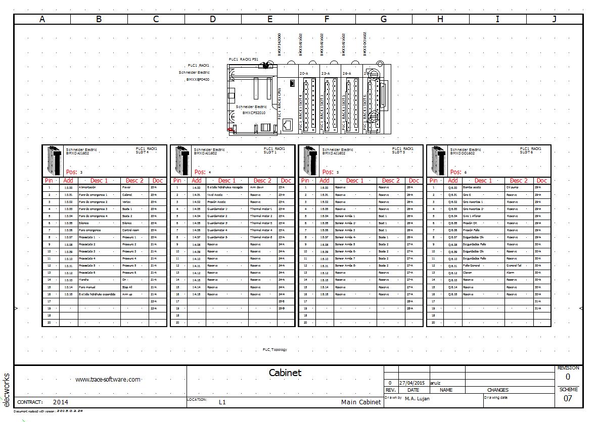 wiring diagram plc horsetail plant schéma de câblage électrique   elecworks