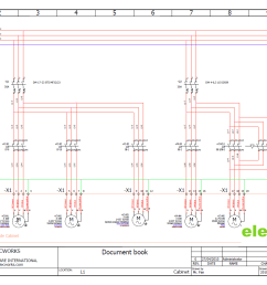 electrical design software elecworks trade residential circuit breaker panel wiring diagram [ 1293 x 913 Pixel ]