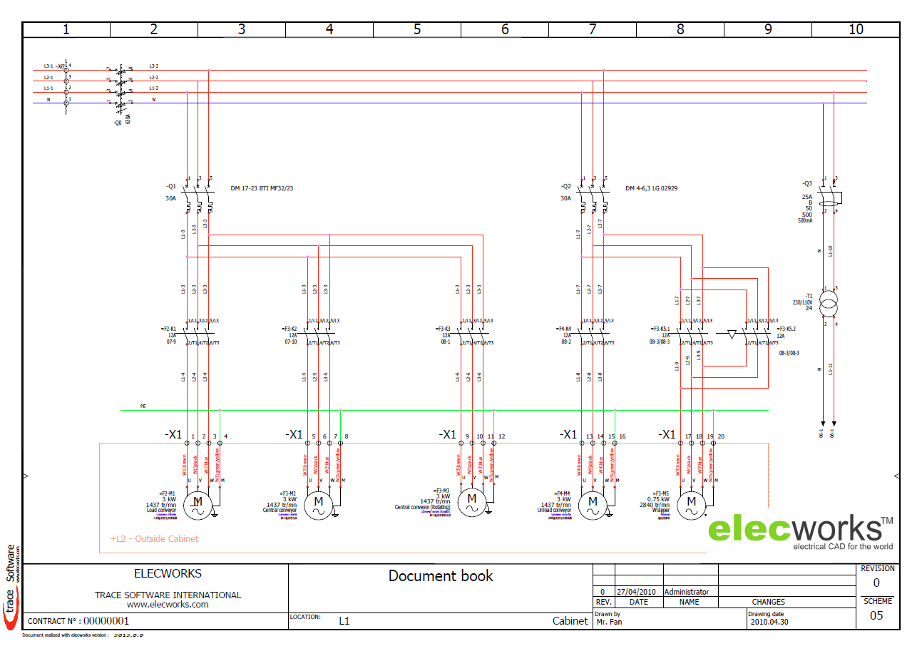 panel wiring diagram software schematic electrical design elecworks