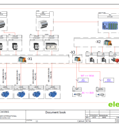 wiring diagram in elecworks [ 1293 x 913 Pixel ]