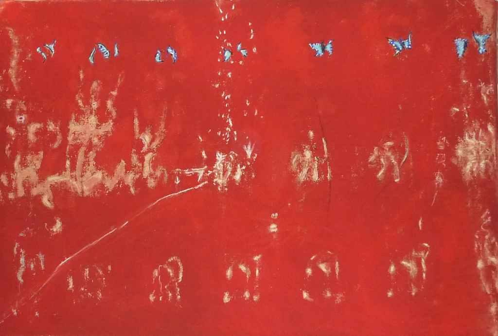 meta-morphose 1 /// 150X100 pigments on canvas