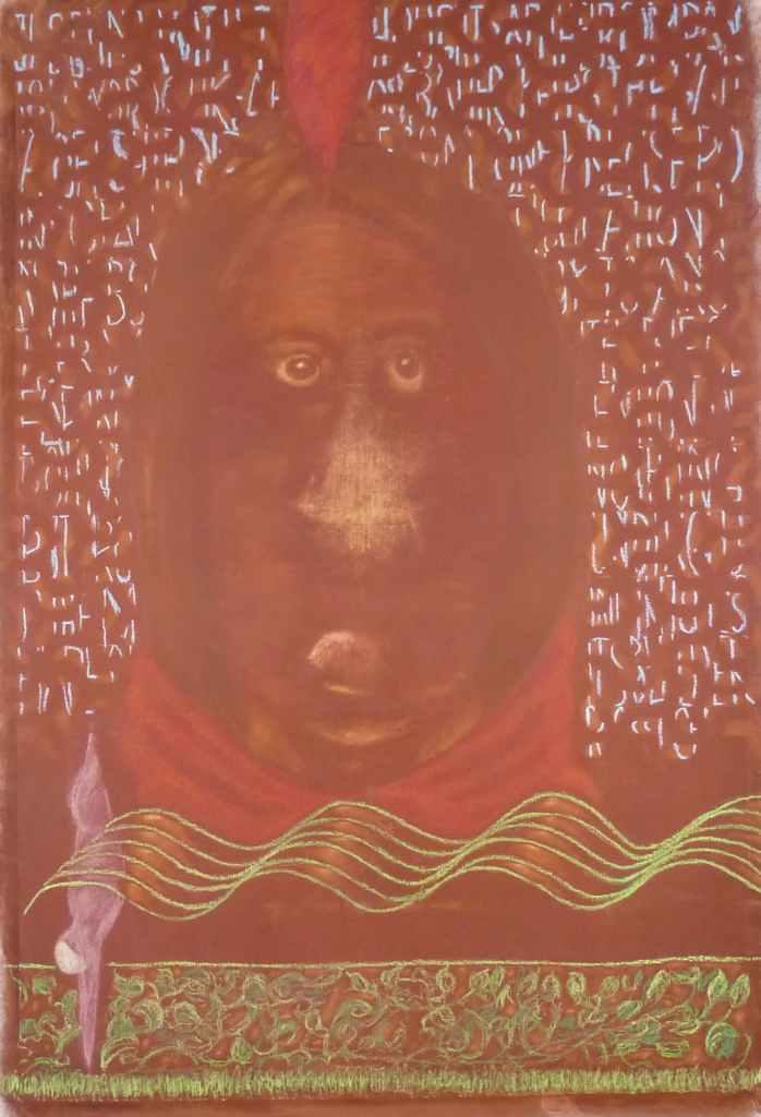 watch out! /// 100x150cm pigments on canvas Bruno Rossi artiste peintre Paris 2008 2012