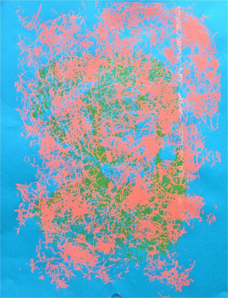 straw 5 /// 50X60 serigraphy on paper Bruno Rossi artiste peintre plasticien Paris 2008 2012