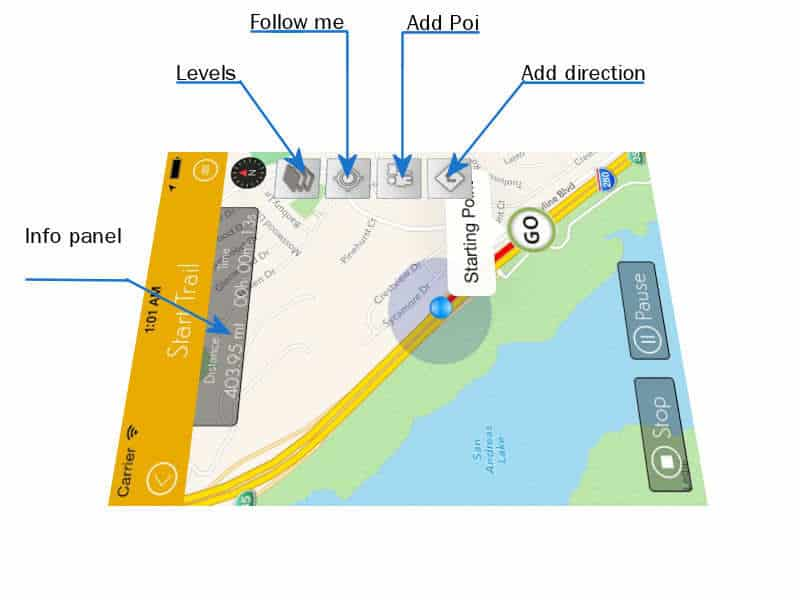Gps tracker android ios