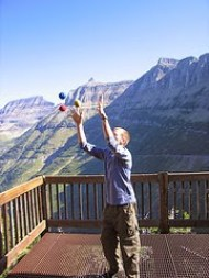 Juggling in Glacier by Evan Lovely