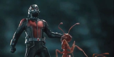 Ant-Man with his ant buddy