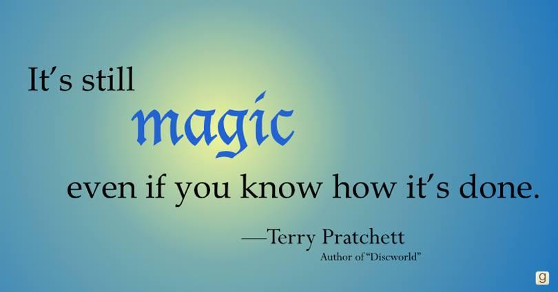 Pratchett quote courtesy of Goodreads