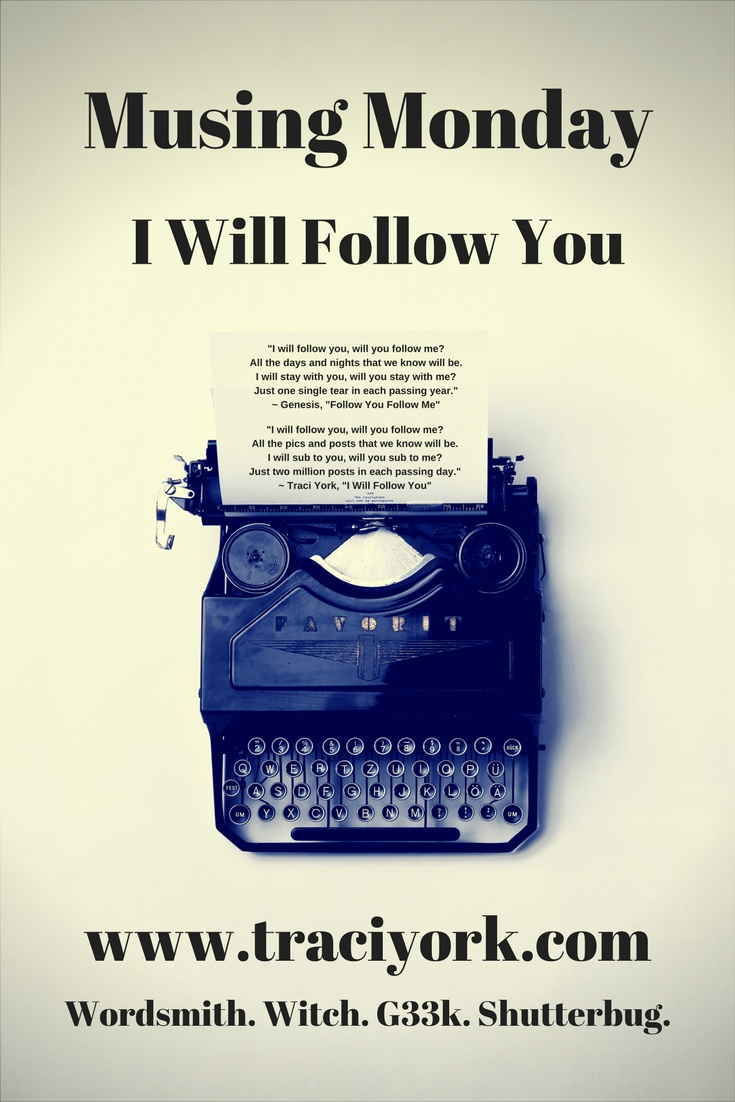 Musing Monday I Will Follow You updated graphic