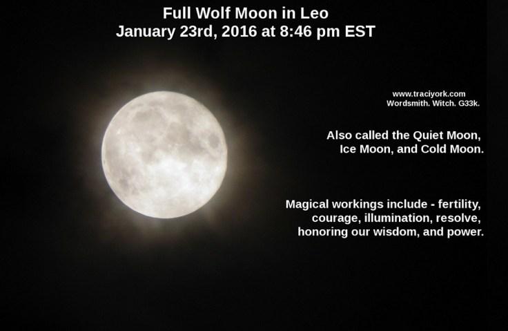Full Wolf Moon in Leo