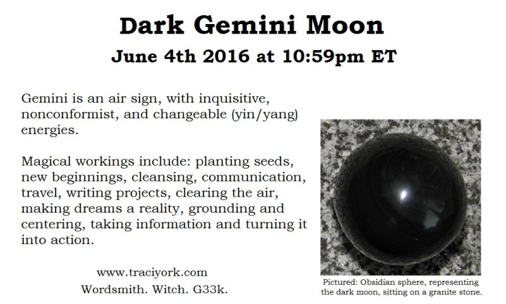 Jue 2016 - Dark moon in Gemini