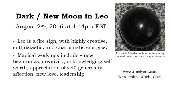 Dark Moon in Leo, August 2016
