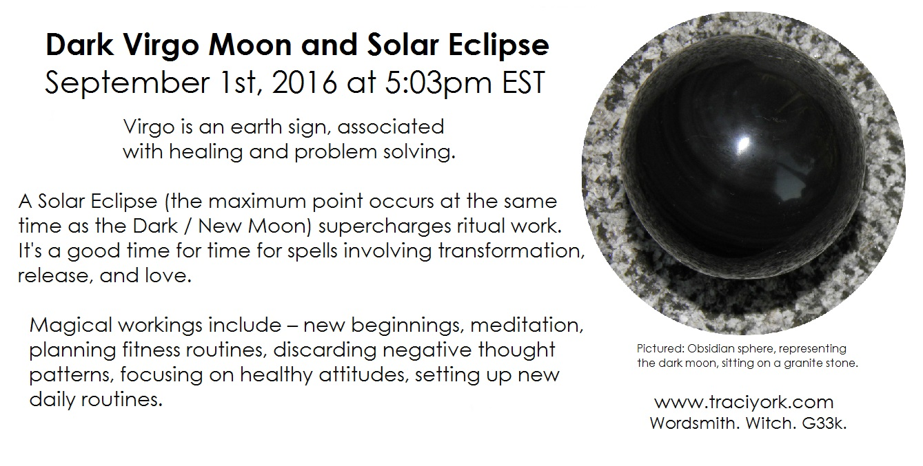 9. September 2016 - Dark moon in Virgo and Solar Eclipse