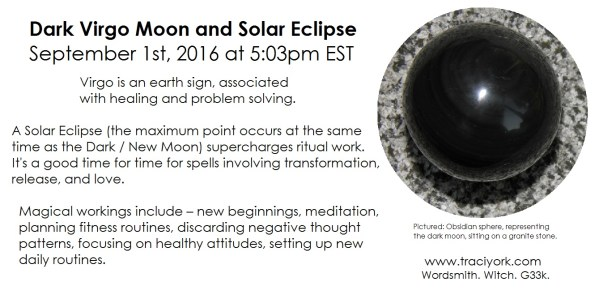 9. September 2016 - Dark moon in Virgo and Solar Eclipse