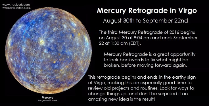 Mercury retrograde August 2016