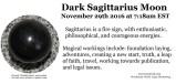 November 2016 Dark Sagittarius Moon