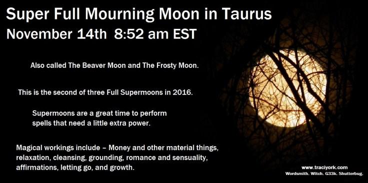 Super Full Taurus Moon
