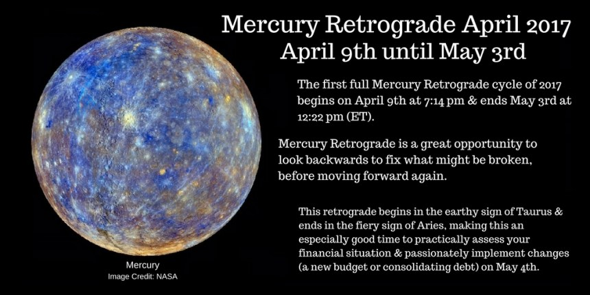 Mercury Retrograde April 9 2017