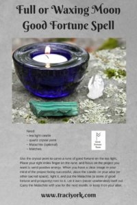 Good Fortune spell for the Full Sturgeon Moon in Aquarius