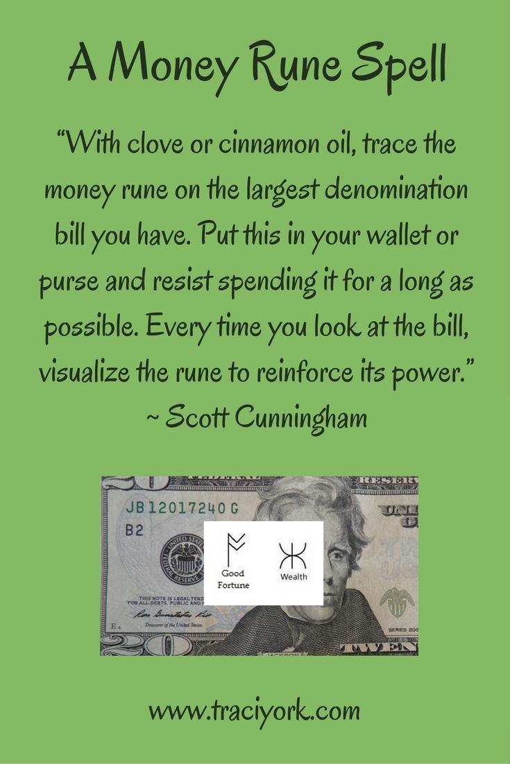 Money Rune Spell for Scott Cunningham's birthday