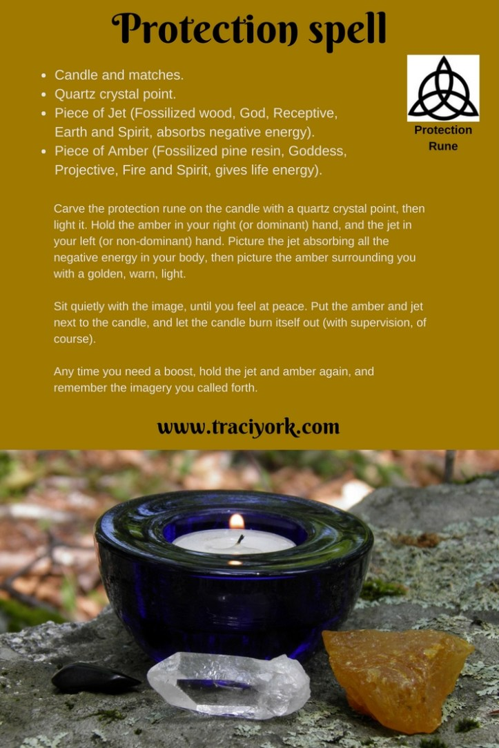 Mostly Wordless Witchy Wednesday - A Protection spell - Traci York