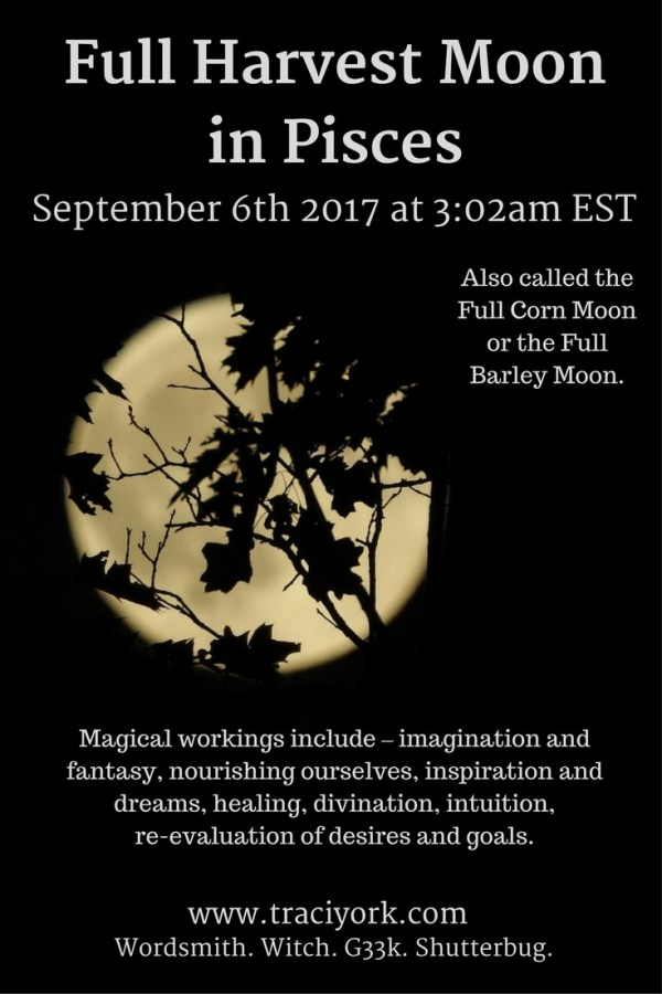 Full Harvest Moon in Pisces September 6 2017