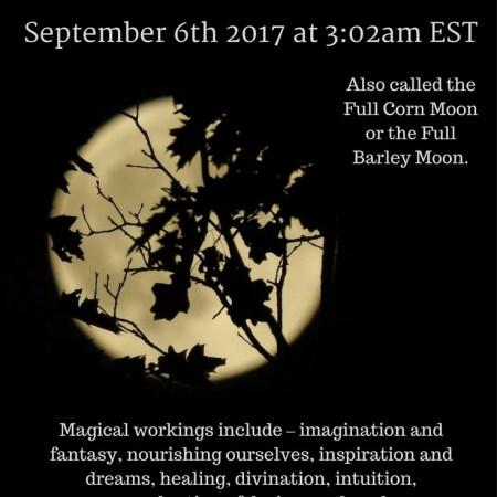 Full Harvest Moon in Pisces September 6 2017