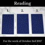 October 3rd 2017 FREE Tarot Card Reading