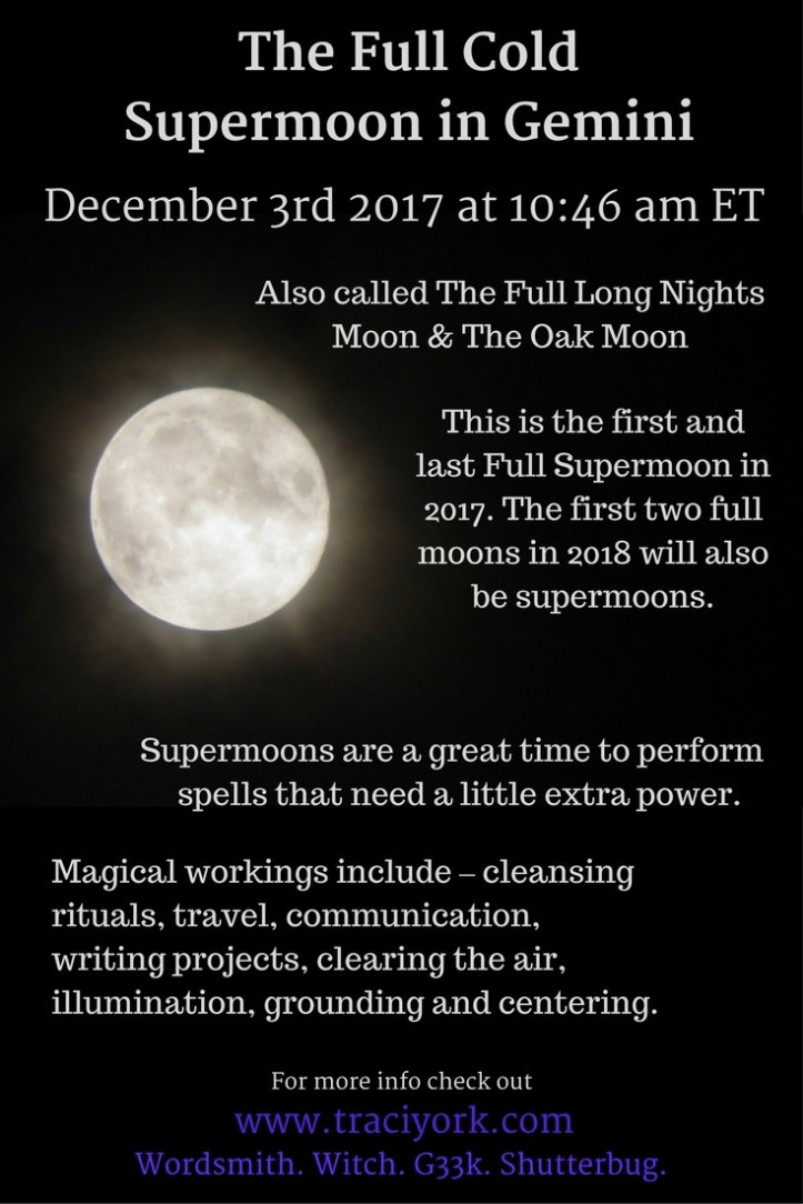 Full Cold Supermoon in Gemini