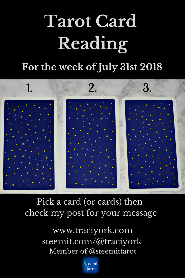 July 31st 2018 Tarot blog graphic