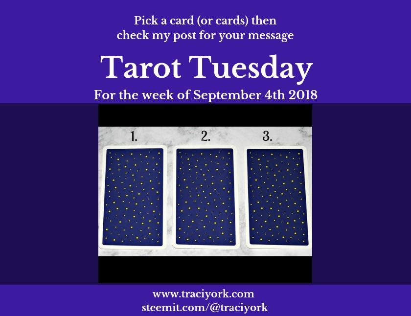 September 4th 2018 Tarot Tuesday blog thumbnail
